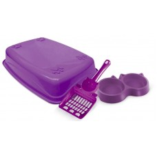 23076 - KIT GATO LUXO 3X1 PET INJET LILAS