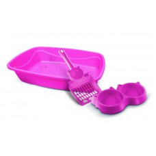 23077 - KIT GATO LUXO 3X1 PET INJET ROSA