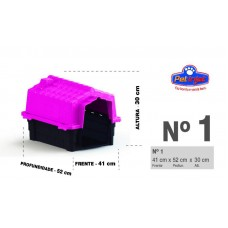 24855 - CASA ECO COLORS DOG HOUSE EVO N 1 ROSA