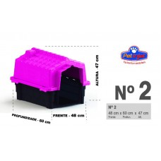 24861 - CASA PRIME COLORS DOG HOUS EVO N 2 PINK