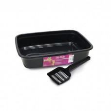 24930 - KIT GATO BLACK 2PCS BANDEJA+PA POWERPETS