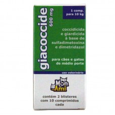 19720 - GIACOCCIDE 600MG 2 BLISTER C/10 COMPRIMI
