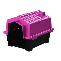 25135 - CASA ECO COLORS DOG HOUSE EVO N 3 ROSA