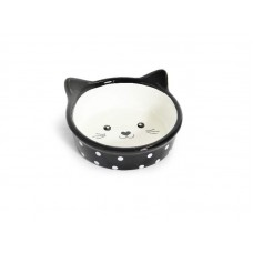 25893 - COMED PORCELANA FACE CAT PRETO HD16C411