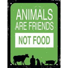 29254 - PLACA ANIMALS FRIENDS 18X23 DEC20