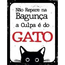 29264 - PLACA CULPA E DO GATO 18X23 DEC42