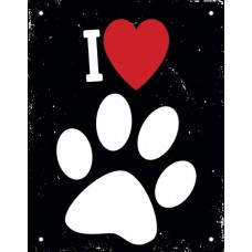 29257 - PLACA I LOVE PETS 18X23 DEC28