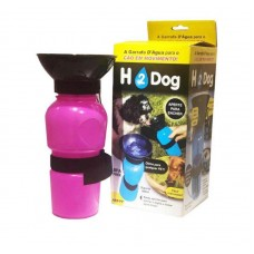 30121 - BEBEDOURO PORTATIL H2 DOG ROSA 500ML